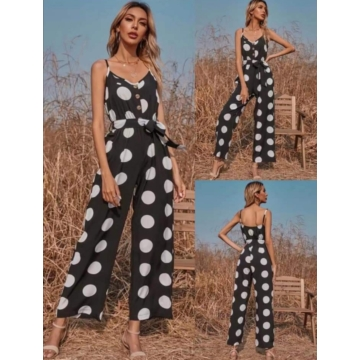 Dotty Overall Black
